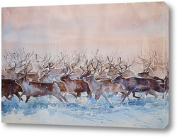 """Картина Ветрам навстречу. Из серии """"Среди снегов и метелей"""""""