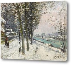Риверсайд в снегу