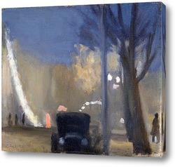 Картина Коллинс стрит, вечер, 1931