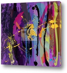 abstract background illustration, paint strokes and splashes