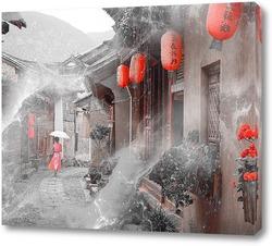 Постер Китайская улочка