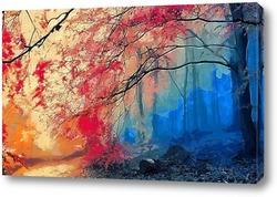 Картина Дерево в тумане