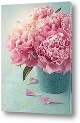 Постер Красивый букет из розовых пионов