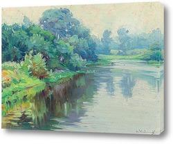 Картина Тихая река, Рокпорт, Массачусетс