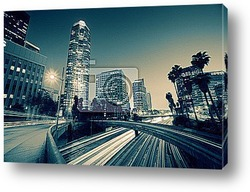 Постер Freeway traffic in downtown Los Angeles