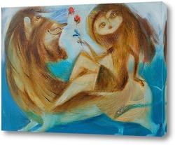 Картина Цветочница Анюта