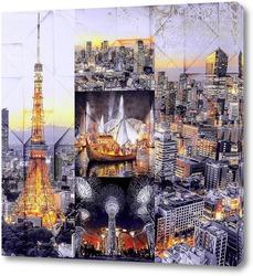 Постер Ночной Токио