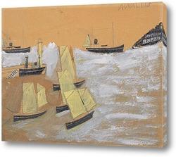 Постер Лодки в порту
