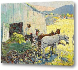Картина Телега и сарай
