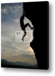 Постер Kletterer im Sonnenuntergang