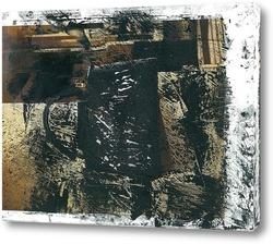 Постер натюрморт со старой чёрной кружкой