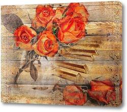 Красные розы и рояль