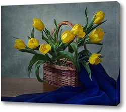 Постер С желтыми тюльпанами