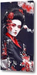 Постер Гейша в кимоно