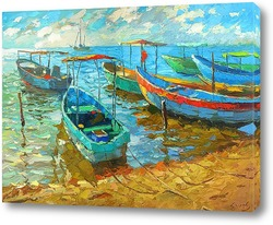 Картина Рыбацкие лодки