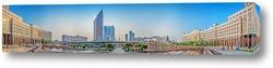 Постер Утренняя панорама административного центра города Астана