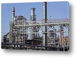 Постер Chemical oil plant equipment petrol distillery