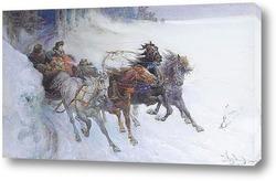 Постер Радость в зимний период