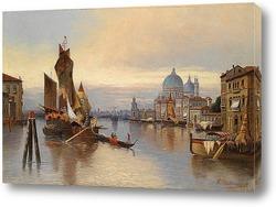 Венецианская сцена с видом на Санта-Мария-делла-Салюте