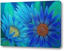 Картина Голубые цветы