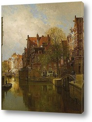 Вид на канал Амстердам