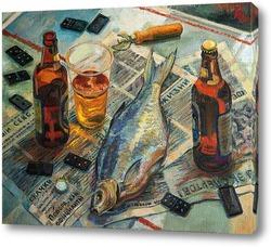 Постер Лещ и пиво