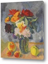 Картина Цветы и яблоки