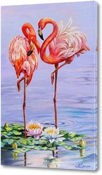 Постер Свидание фламинго