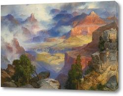 Картина Гранд каньён в тумане