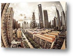 Постер Городской пейзаж современного города