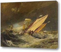 Постер Рыбацкое судно