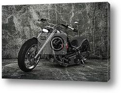 Постер Заказной мотоцикл.