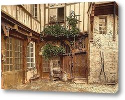 Постер Дом Франциска I, Аббевилле, Франция.1890-1900 гг