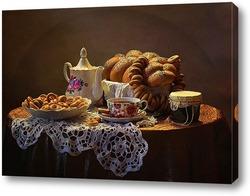 Постер Чай с бубликами