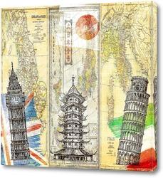 Постер Винтажные карты