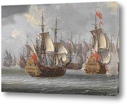 Картина Британские военные корабли