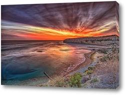 Постер Морская бухта на закате