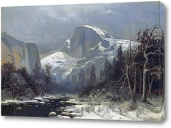Постер Зима в долине Йосемити
