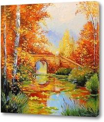 Постер Осенний пруд