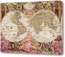 Постер Старая карта