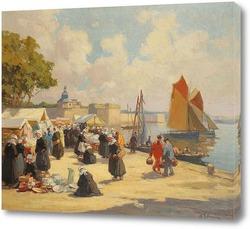 Постер Конкарно, рынок перед закрытым городом