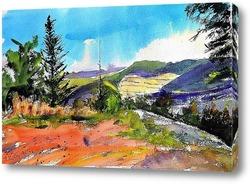 Картина горный пейзаж
