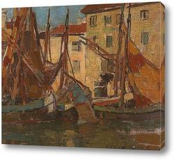 Постер Рыбацкие лодки