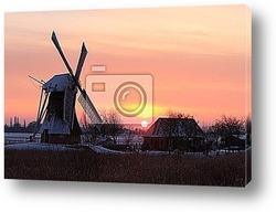 Постер Winter sunrise