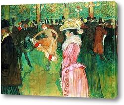 Картина Танец в Мулен Руж