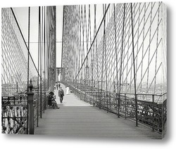 Постер Манхэттен и Бруклинский мост, 1907