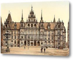 Постер Висбаден, Гессен-Нассау, Германия.1890-1900 гг