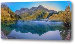Постер Утренний туман над озером Кардывач