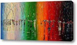 Картина Зонты сентября