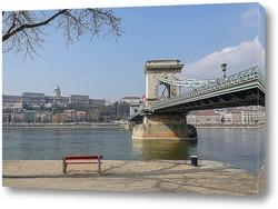 Постер Мост и скамейка